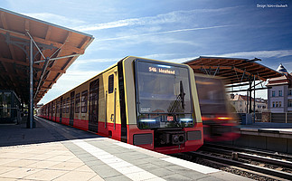 Illustration of the new trains of the S-Bahn Berlin