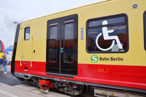 The first half train of the new S-Bahn series on the open-air grounds of InnoTrans 2018