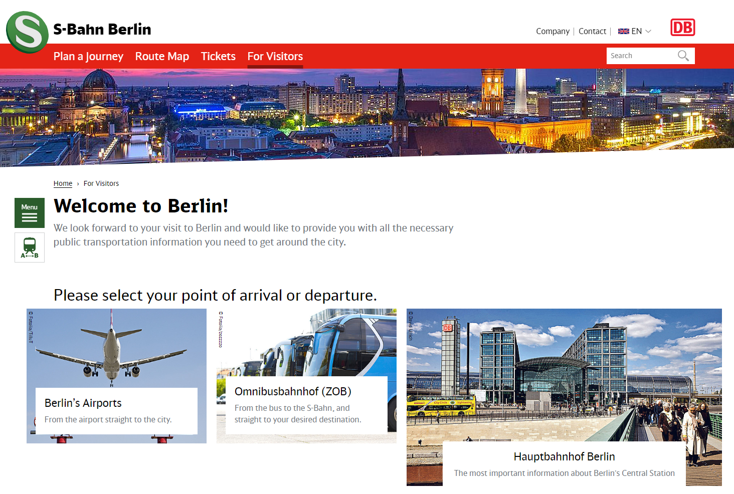 Section For Tourists And Berlin Visitors With Information About Route Planning And Ticket Purchase
