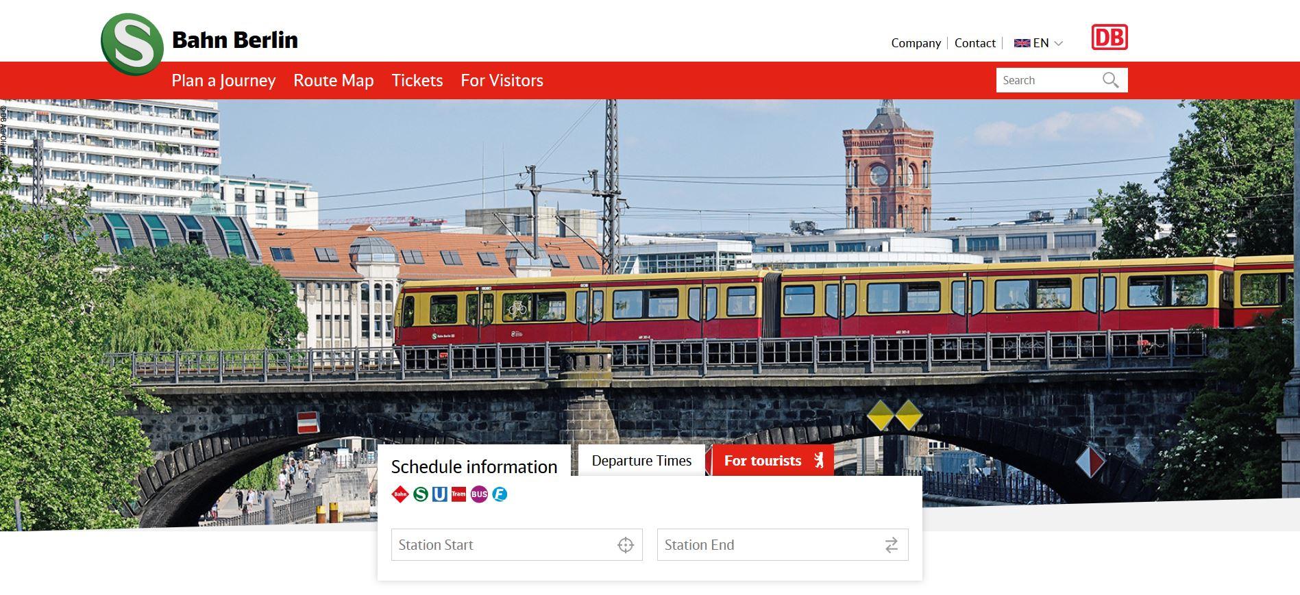 Website S Bahn Berlin Gmbh